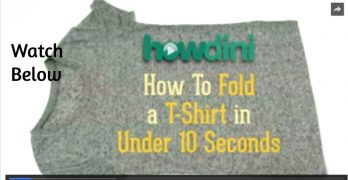 How to fold a T-shirt in Under 10 Seconds